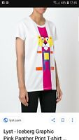 Iceberg Graphic Pink Panther print women T Shirt Size M