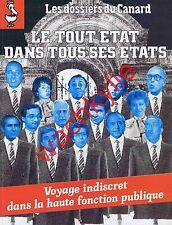 Les dossiers du canard n°33 du 09/1989 État Haute fonction publique ENA Siècle
