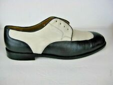 Mezlan VERINO Men 14 Oxford Dress Shoes soft leather Skin two tone White black