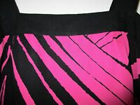 Pure Silk Jaeger Jungle Black/Pink  Vest sz8. Stunning! Grr!