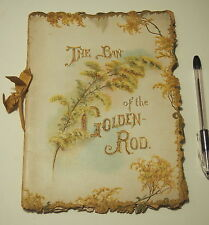 Antique The Ban of the Golden-Rod Booklet by Grace Le Baron 1800's HTF Munich