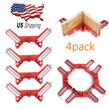 "4pcs 90 Degree Right Angle Miter Corner Clamp 3"" Capacity Corner Wood Tool US"