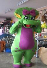 Baby Bop Barney Green Dinosaur Mascot Costume Party Character Birthday Halloween