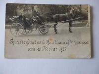 Ansichtskarte Spazierfahrt nach Maulhäusel bei Reichenhall 1925 Kutsche (Nr.699)
