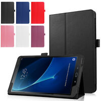 """Fits Samsung Galaxy Tab A 10.1"""" SM-T580 Solid Color Slim Stand Shell Case Cover"""