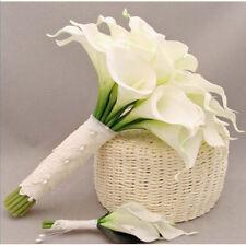 10pcs Artificial Calla Lily Latex Real Touch Flower DIY Decor Bridal Bouquets AU