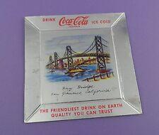 Coca Cola Giveaway - Aluminized San Francisco Bay Bridge Unused Ash Tray c1950s