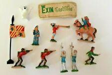 EXIN CASTILLOS - FIGURINE CHATEAU FORT (x10 FIG) JEU DE CONSTRUCTION - ESPAGNE