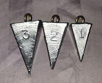 3 Pound Lot - 1oz - 2oz - 3oz - Pyramid Sinkers - Lunker Hunter Fishing Weights