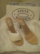 steve madden suede and perspex shoes size 39 beige Padded in sole
