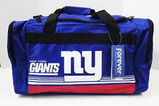 """New York Giants DUFFEL Bag Stripes Gym Training New 20"""" x 11"""" x 11"""" NFL NY"""