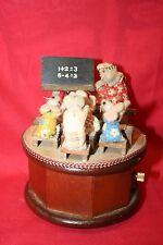 Enesco School Mice Wooden Music Box Dated 1980