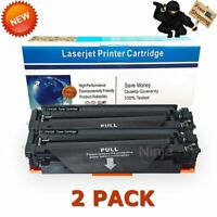 2x Black Toner for HP CF410A LaserJet Pro M377dw M452dw M477fdn M477fdw M477fnw