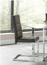 Black Leatherette Dining Chairs with Chrome Base by Coaster 103156 - Set of 2