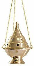 """Brass Burners Hanging Censer/Charcoal Incense Burner, 4.5"""" H"""