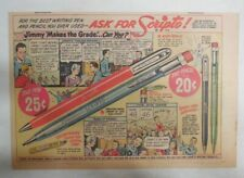 Scripto Pens & Pencils Ad: Jimmy Makes The Grade ! from 1940's Size: 7.5 x 10 in