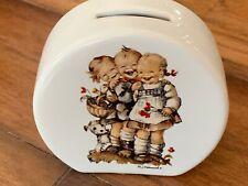 """Hummel Porcelain Collectible Coin Bank • """"Follow The Leader"""" • Piggy • Unused?"""