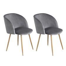 Lot de 2 chaises à manger chaises de table de cuisine de coussin de velours avec