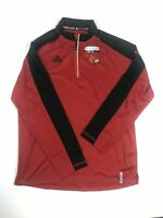 NEW adidas Louisville Cardinals - Men's Red/Gray  Clima-lite Pullover (M)