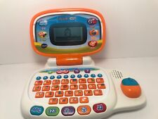 """VTech """"TOTE 'N GO LAPTOP"""" Learning System Educational Toy Works Orange & White"""