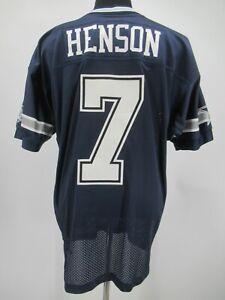 L7366 VTG Reebok NFL Dallas Cowboys Drew Henson 7 Football Jersey Size 48