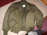 Tankers jacket/Flight Jacket/CVC, Cold Weather/Heat Resistant, Medium Regular
