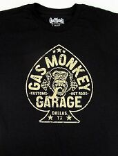 GAS MONKEY GARAGE T-shirt ACES HIGH Hot Rods Tee Adult XL Black New
