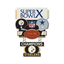 PITTSBURGH STEELERS DALLAS COWBOYS SUPER BOWL X CHAMPIONS ON THE FIFTY PIN