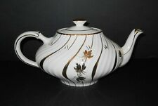 Vintage Arthur Wood Teapot Made in England 4833C Gold Leaves and stripes Tea Pot
