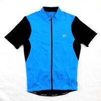 abd159ec4 Pearl Izumi Mens Blue Black Podium Cycling Bicycle Full Zip Jersey Top Sz  Small