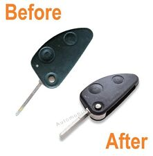For Alfa Romeo 147 156 166 GT 2 Button Remote Key Repair Refurbishment Service