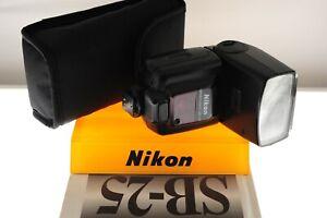 Nikon SB-25 Speedlight flashgun. Nikon SLR. EXC- condition. Zoom/swivel/bounce