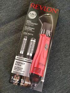 Revlon Perfect Heat Dryer Brush Styler Wands 4 Piece Hot Air Hair Styling Kit