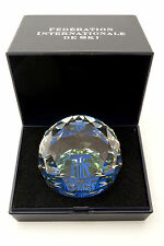 SWAROVSKI FIS Inter Ski Federation World Cup PAPERWEIGHT CRYSTAL BALL  Rare