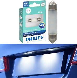 Philips Ultinon LED Light DE3425 White 6000K One Bulb License Plate Tag Replace