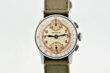 VINTAGE BUREN WWII MILITARY CHRONOGRAPH MANUAL WIND 32MM WATCH