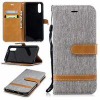 Huawei P20 Cellphone Case Schutz-Tasche Cover Card Compartment Book-Style Grey
