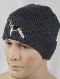 Polo Ralph Lauren Collectable Grey Terrier Dog Wool Beanie Hat NWT