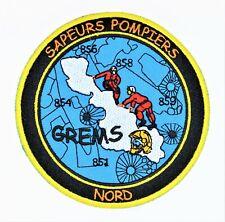 Obsolète écusson Pompier GREMS SDIS 59 Nord Fire Patch Sécurité Civile