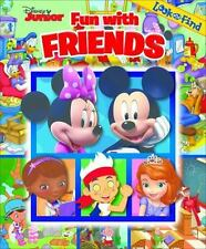 Disney Jr Look & Find Book Mickey Minnie Mouse Jake Doc Mcstuffins 2014