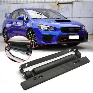 JDM Adjust No Drill Carbon Fiber Front License Plate Mount Bracket for Subaru