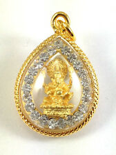 Ganesh Elephant Hindu God Thai Amulet Buddha Pendant jewelry 22K gold Diamond