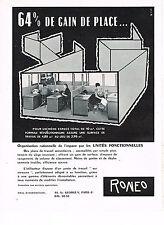 PUBLICITE ADVERTISING 024   1959   RONEO    mobilier de bureau 2