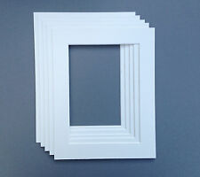 10 X 8 Inch White Picture Mounts to fit 7 x 5 Picture/Photo. Pack of 5