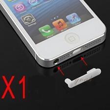 Stopper Antipolvere Doppio Cuffie Dock Anti Dust Bianco per Iphone 5 5G 5S 5C SE