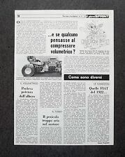AG36 - Clipping-Ritaglio -1979- COMPRESSORE VOLUMETRICO