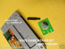 Super Nintendo SNES Cartridge Repair Kit Security Bit Battery Save Game Socket
