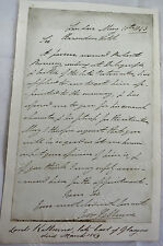 James Carr-Boyle, 5th Earl of Glasgow, signed 1843 Letter