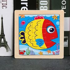 Animal Wooden 3D Puzzle Jigsaw Puzzle Piece Kids Educational  Intelligence Toy