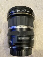 Canon EF-S 10-22mm f/3.5-4.5 AF EF-S USM Lens. EXCELLENT condition!